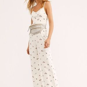 Free People Lights Off Embroidered Jumpsuit